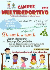 Campus Multideportivo 2017 @ Polideportivo Municipal Villa de Mazo